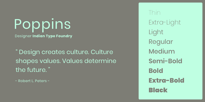 Poppins By Indian Type Foundry